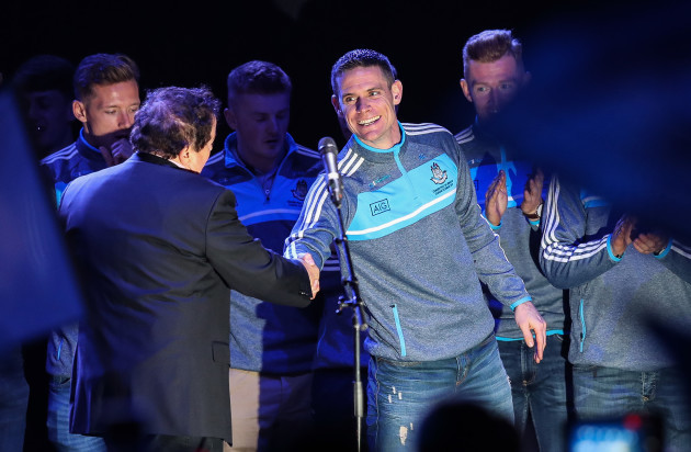 Stephen Cluxton with Marty Morrissey