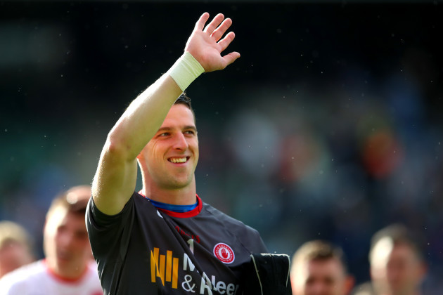 Niall Morgan salutes the crowd