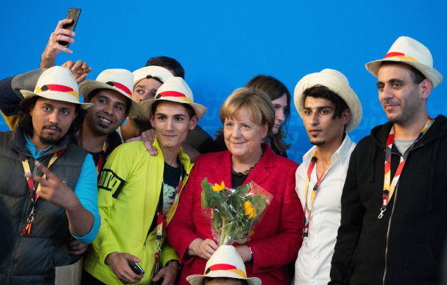 CDU election campaign with German Chancellor Merkel