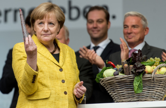 German chancellor Merkel on the campaign trail in Freiburg
