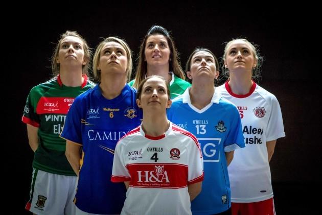 Sarah Tierney, Samantha Lambert, Cait Glass, Aine McGovern, Sinead Ahearne and Neamh Woods