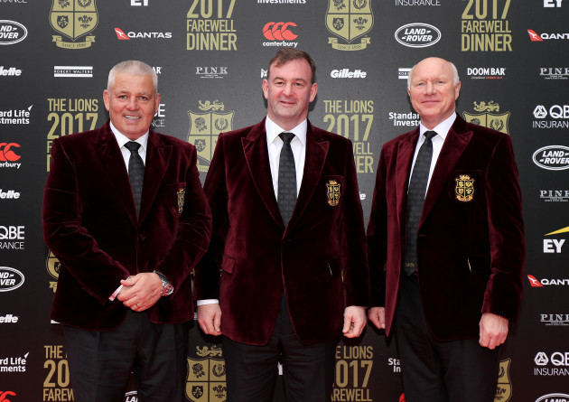 Warren Gatland, John Feehan and John Spencer