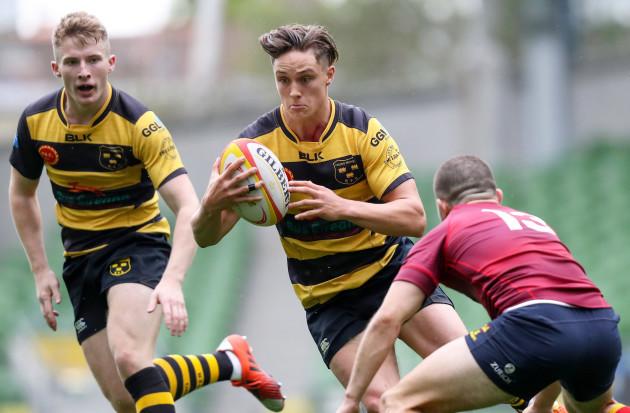 Harry Brennan tackles James O'Connor