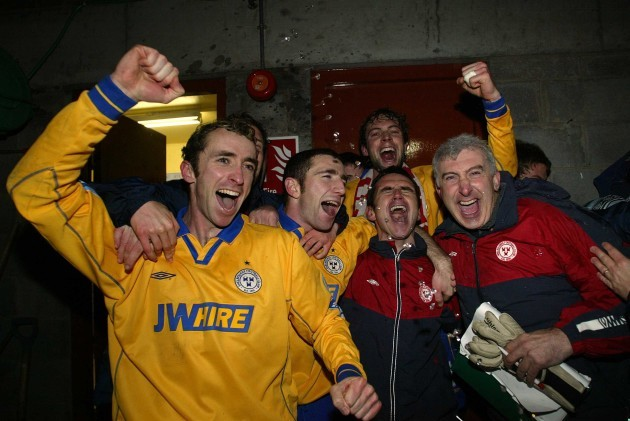 Ollie Cahill, Owen Heary, Jamie Harris, Pat Fenlon and Fred Davis 19/11/2004