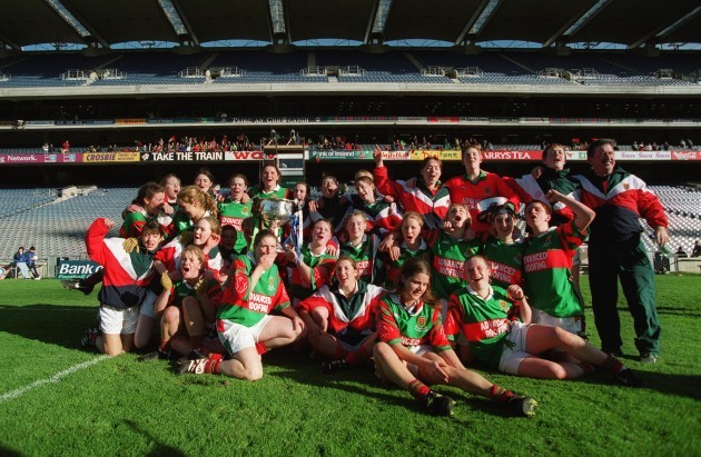 The Mayo team celebrate 3/10/1999