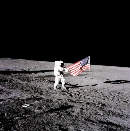 NASA Apollo 12 Astronaut Pete Conrad Spacewalk on the Moon