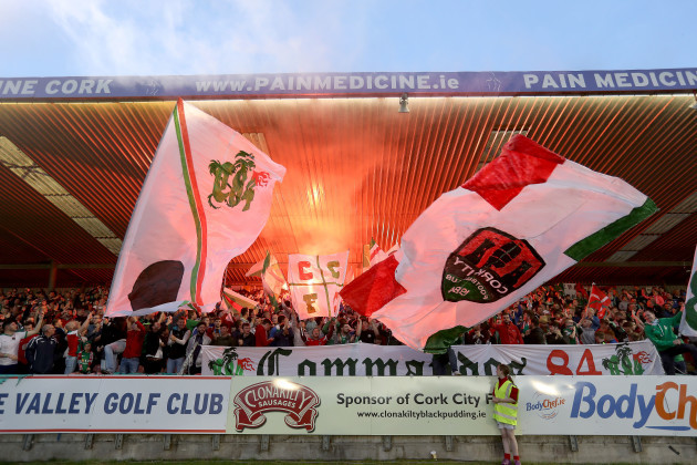 Cork City fans at the game