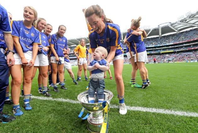 Gillian O'Brien celebrates with Harry Hayes