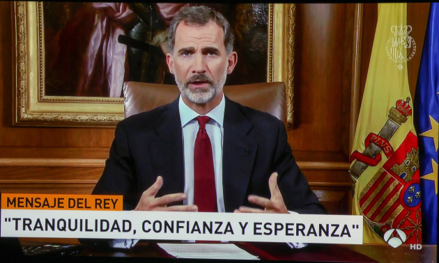 King Felipe's Address To The Nation - Madrid