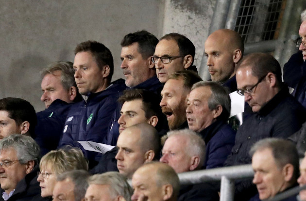 Roy Keane and manager Martin O'Neill attend the game