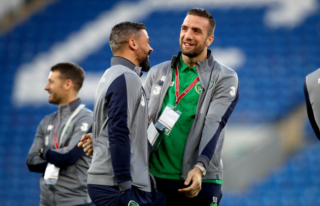 Jon Walters and Shane Duffy