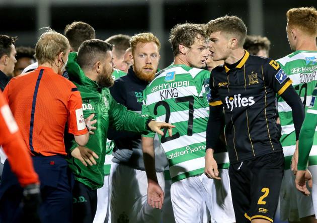 Darren Dillon clashes with Sean Gannon