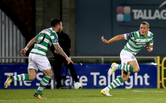 Michael O'Connor celerates scoring his sides second goal