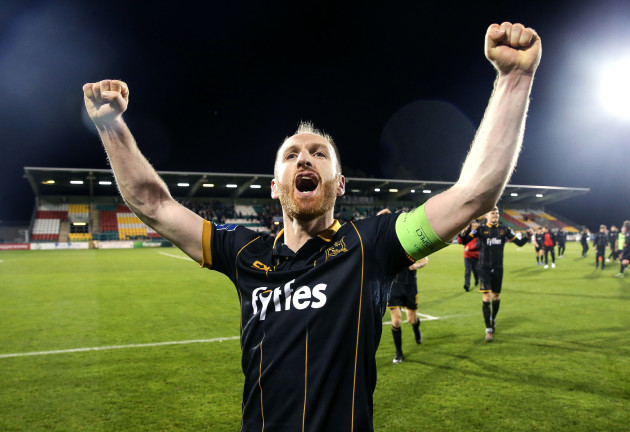 Stephen O'Donnell celebrates after the game