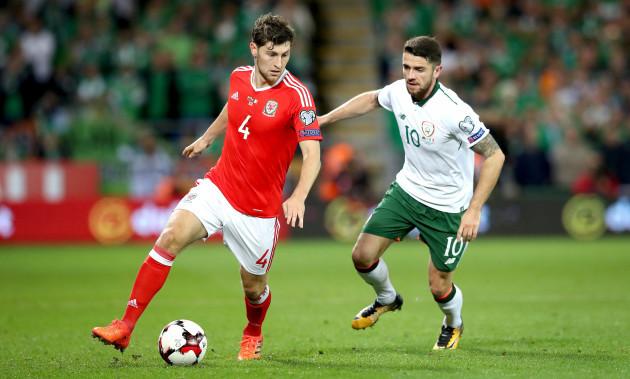 Robbie Brady with Ben Davies