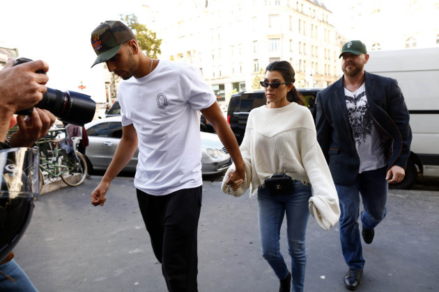 France: Younes Bendjima and Kourtney Kardashian In Paris