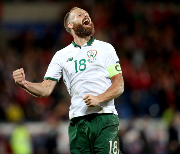 David Meyler celebrates after the game