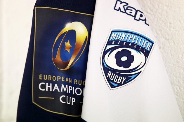 A general view of a Montpellier jersey