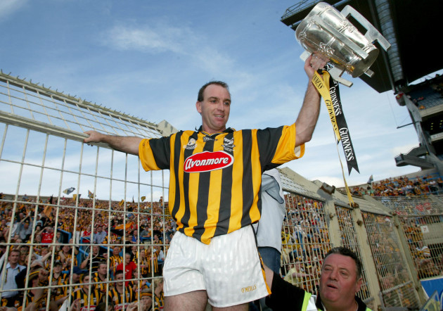 DJ Carey raises the Liam McCarthy Cup