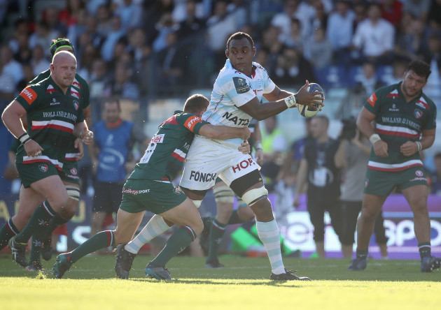 Leone Nakarawa is tackled by George Ford