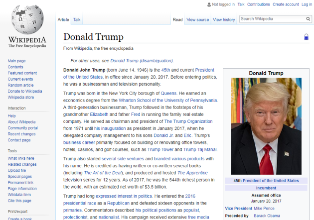 Donald Trump Wiki