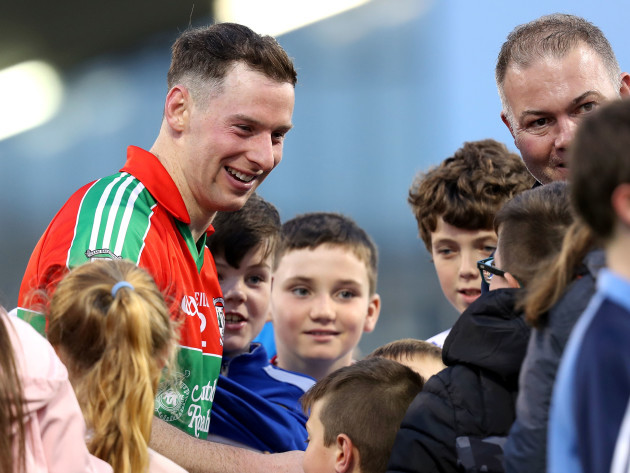 Philly McMahon with fans after the game