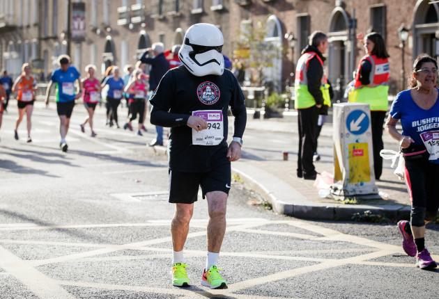 A runner during The SSE Airtricity Dublin Marathon