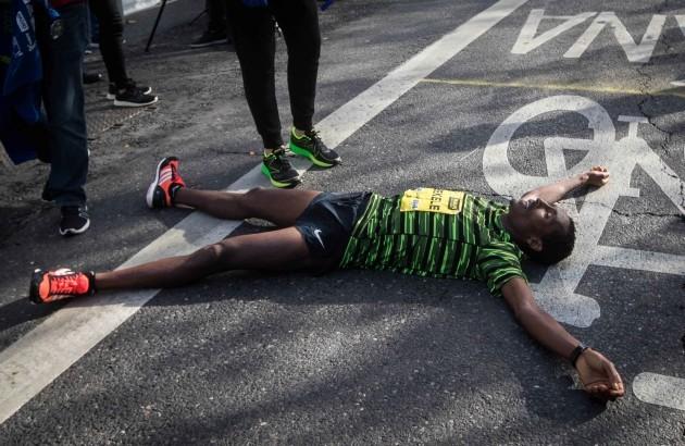 Asefa Legese Bekele exhausted