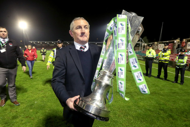 John Caulfield with the trophy