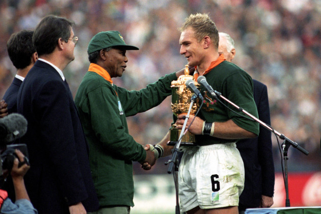 Rugby Union - World Cup South Africa 95 - Final - South Africa v New Zealand - Ellis Park, johannesburg