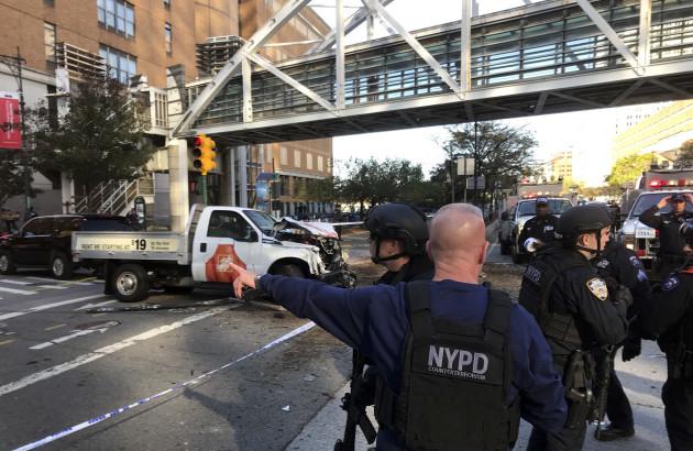 APTOPIX Manhattan Shooting