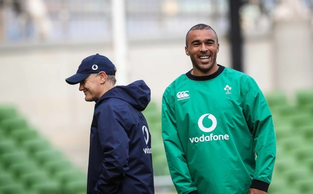 Joe Schmidt and Simon Zebo