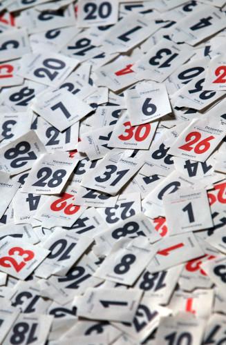 Tear-off calendar 2012