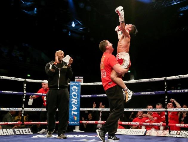 Jamie Conlan celebrates his victory