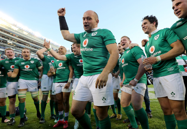 Rory Best celebrates winning