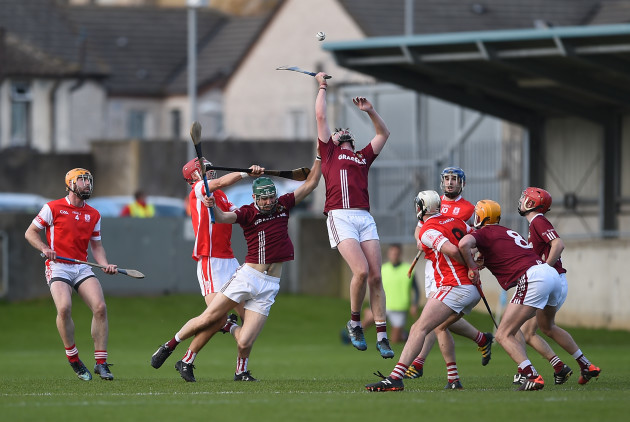 David Treacy wins a high ball