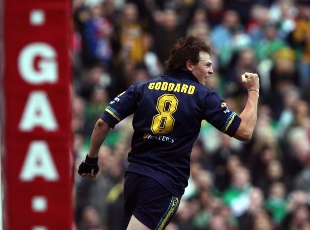 Brendon Goddard celebates after he scored Australias 2nd goal 5/11/2006