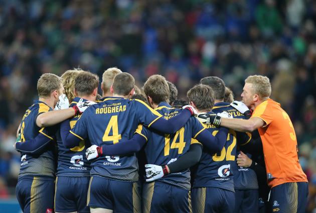 Australia team huddle