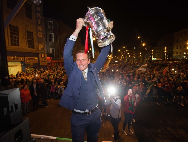 Achille Campion lifts the trophy