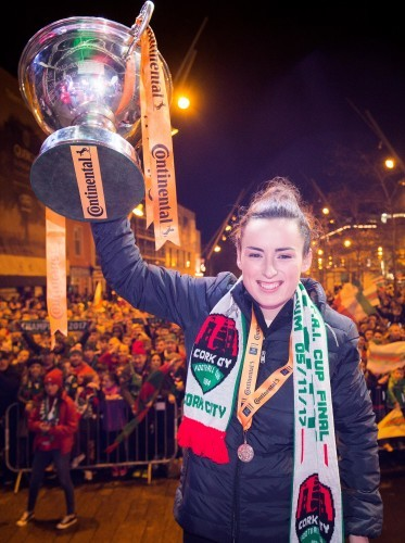 Ciara McNamara with the Continental Tyres Women's FAI Senior Cup