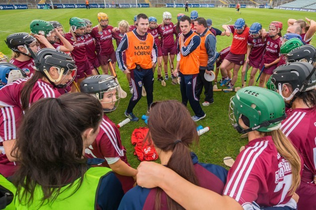 The Galway team huddle