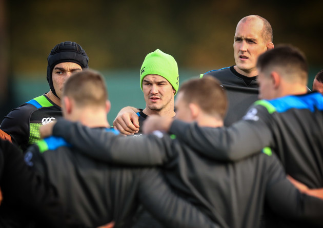 Jonathan Sexton and Devin Toner