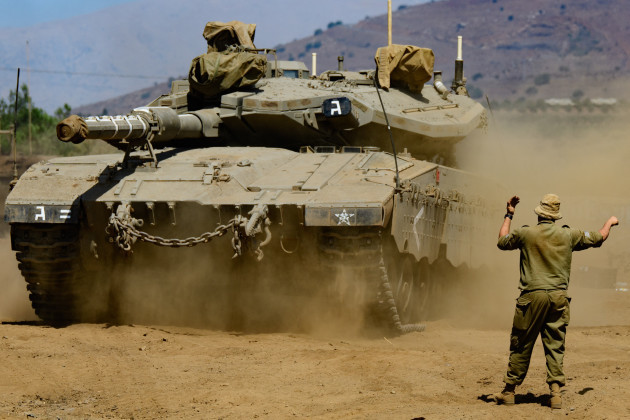 MIDEAST-GOLAN HEIGHTS-MILITARY EXERCISE