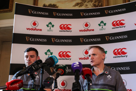Robbie Henshaw and Head Coach Joe Schmidt