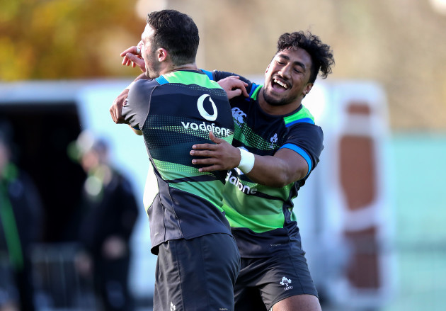 Robbie Henshaw and Bundee Aki