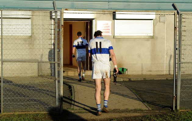 Diarmuid Connolly leaves the pitch after the game