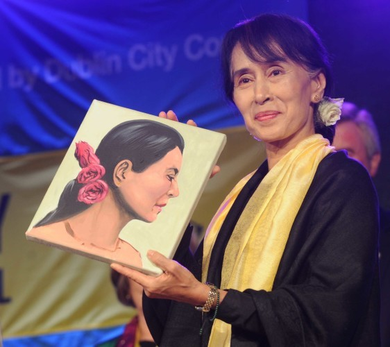 File Photo Nobel Peace Prize winner Aung San Suu Kyi could become the first person to be stripped of the freedom of Dublin city.