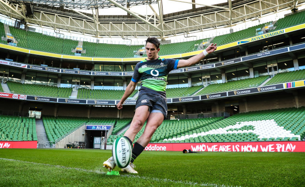 Joey Carbery during kicking practice