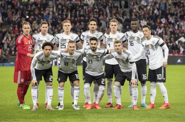 Fussball Laenderspiel/ Freundschaftsspiel/ England - Germany