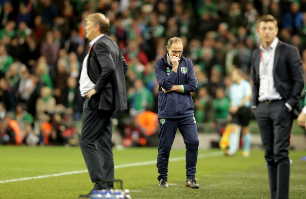 Martin O'Neill during the closing stages of the game